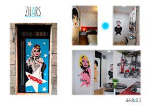 Graffiti apartamento Madrid Zhars