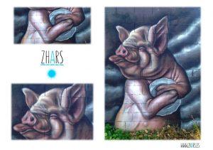 Graffiti Cerdo Zhars Azuqueca de Henares