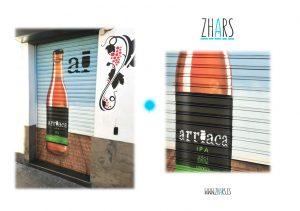 Mural cerveza arriaca Perdigacho
