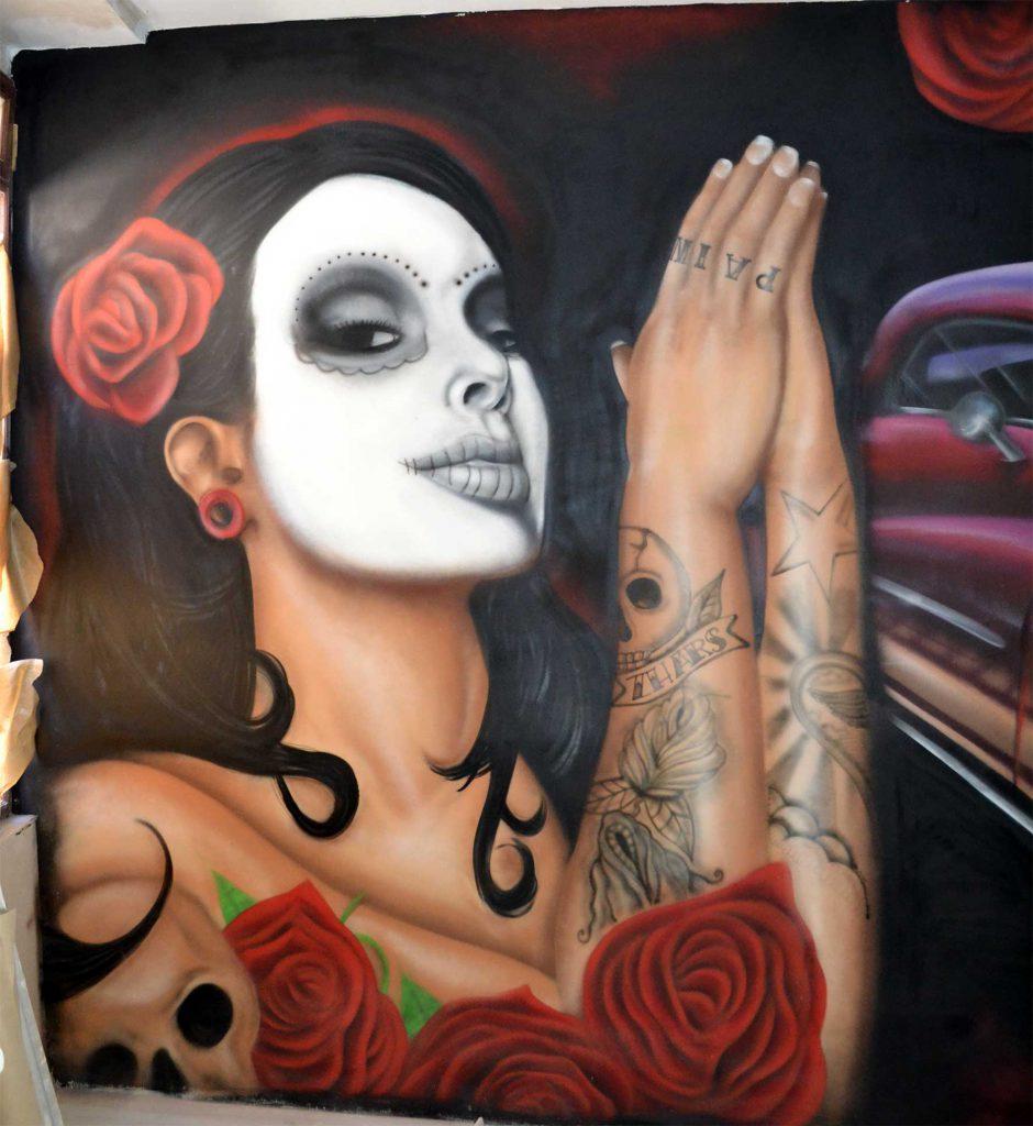 zhars Catrina Tatau Origenes Graffiti Madrid