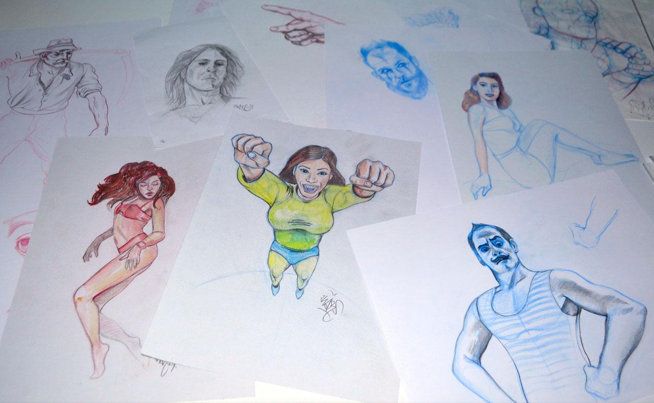 Dibujo bocetos Zhars