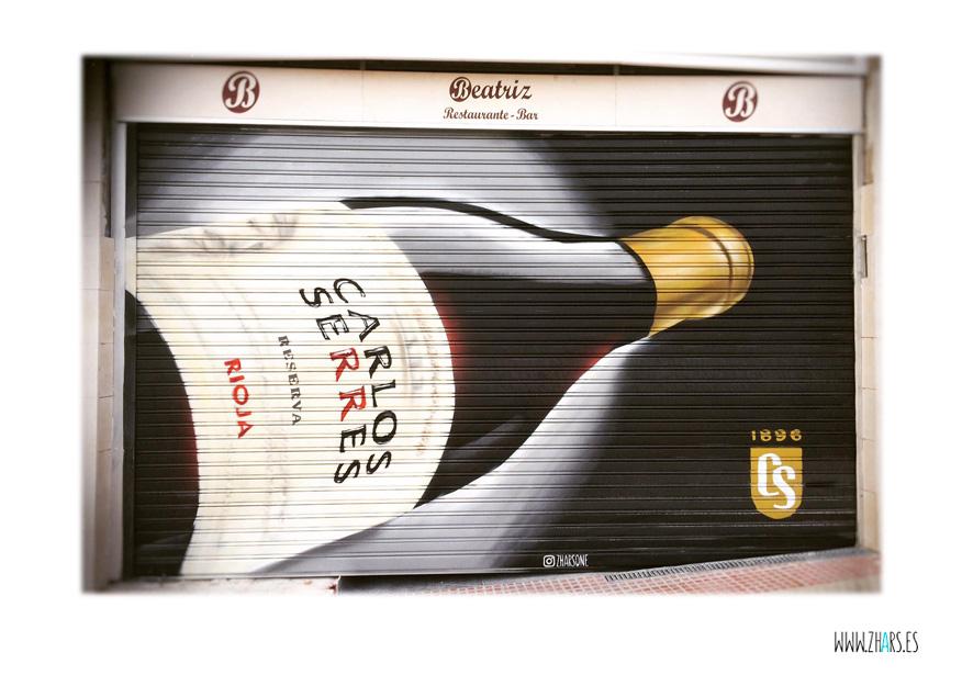Cierres persianas Graffiti Vino Carlos Serres Madrid Zhars