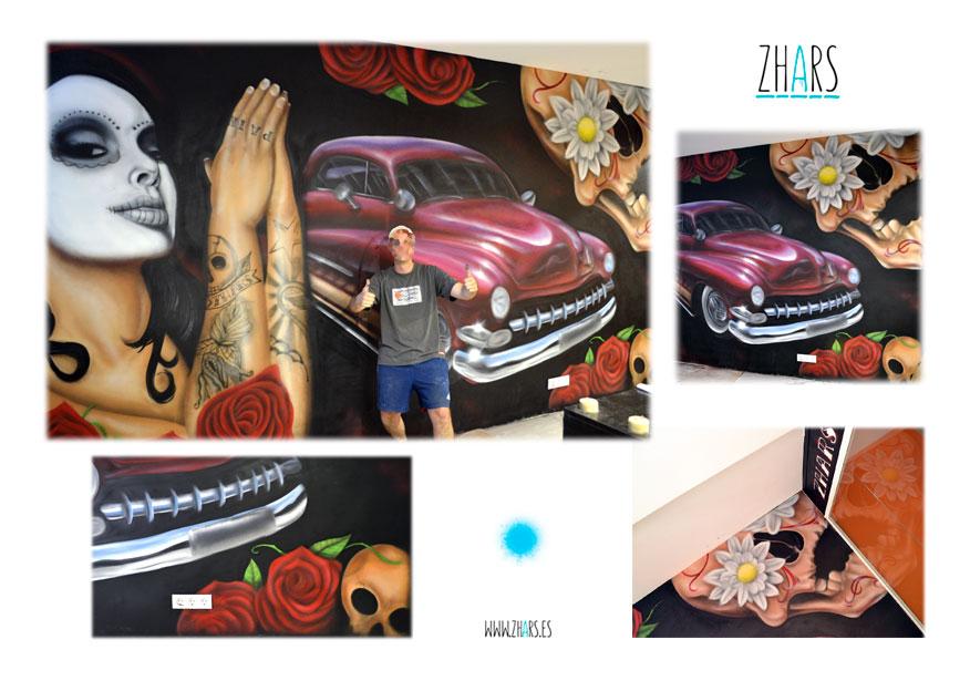 Murales interiores graffiti Madrid