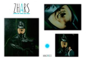 Graffiti Madrid Batman Zhars