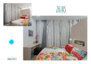 Graffiti dormitorio Madrid Zhars