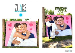 Graffiti Photocall boda Madrid Zhars