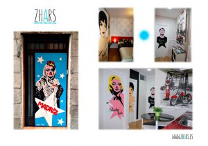 Graffiti apartamento Madrid Zhars