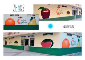 Graffiti fruteria Madrid Zhars