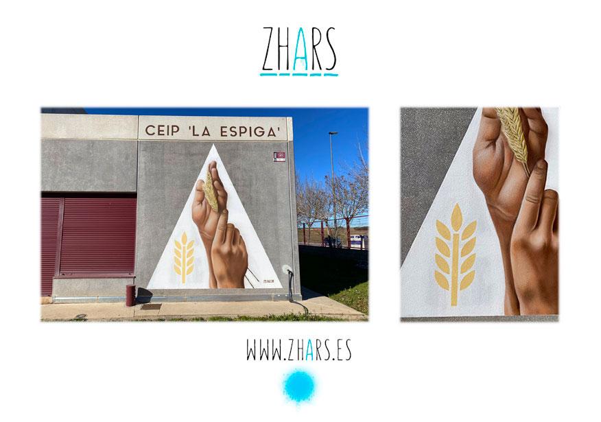 Decoración mural colegio CEIP La Espiga Azuqueca